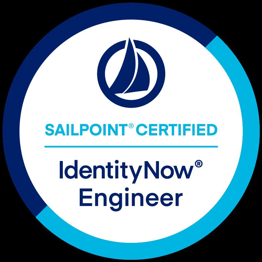SailPoint IdentityNow Engineer Certification badge