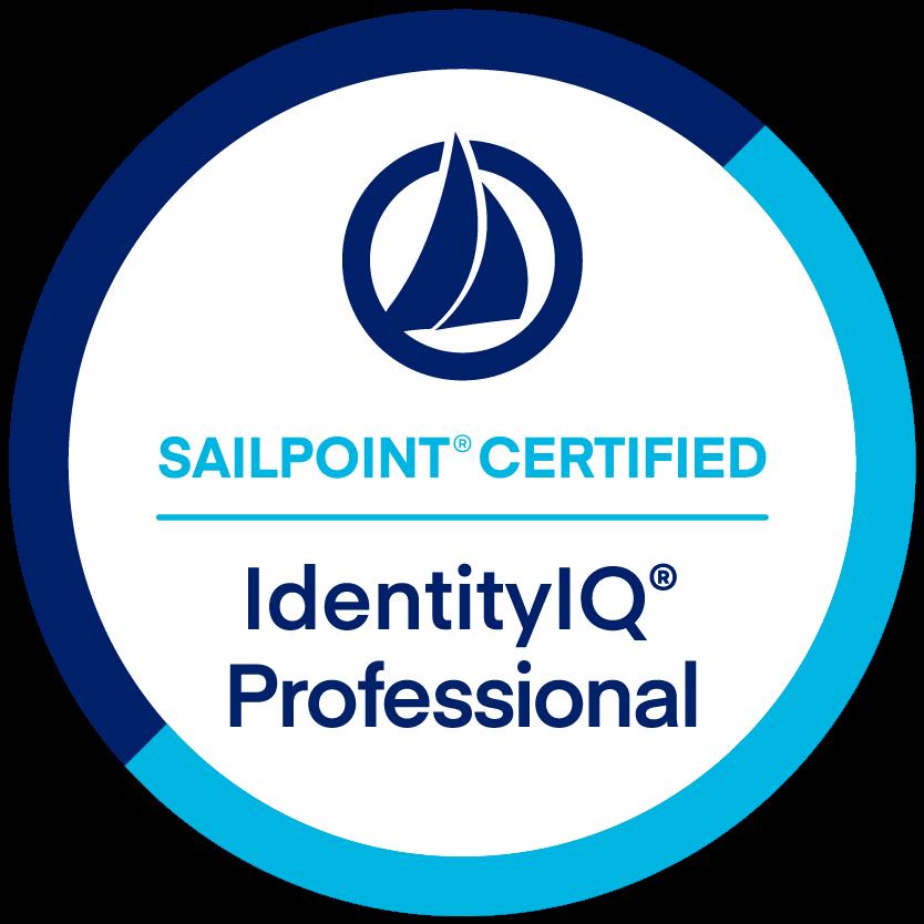 SailPoint IdentityIQ Professional Certification badge