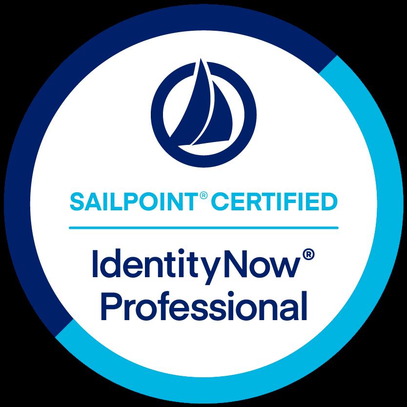 SailPoint IdentityNow Professional Certification badge