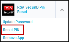 How can I reset my RSA SecureID PIN? - Compass
